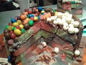cake amande moule damier